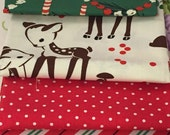 Micheal Miller Holiday Fat Quarter Bundle - Deer Fabric - Christmas Fabric