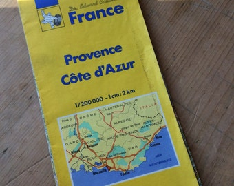 Vintage Provence Road Map 1990