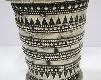 Vintage Antique Ethnic Tribal Old Silver Cuff Bracelet Bangle Rajasthan India