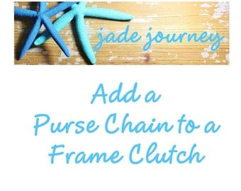 Add a Purse Chain to a Jade Journey Frame Clutch - Silver - Antique Gold