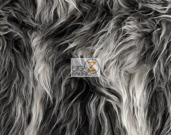 "Solid Mongolian Faux Fur Fabric - FROST - Sold By The Yard 60"" Width Costumes Accessories Clothing"