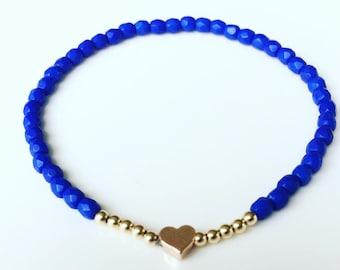 Electric blue Czech Glass bracelet