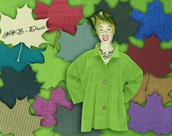 Corduroy, Plus Sizes - US 18 - 34, UK 20 - 36 Layered-look fantastic plus size jacket,fuchsia, green