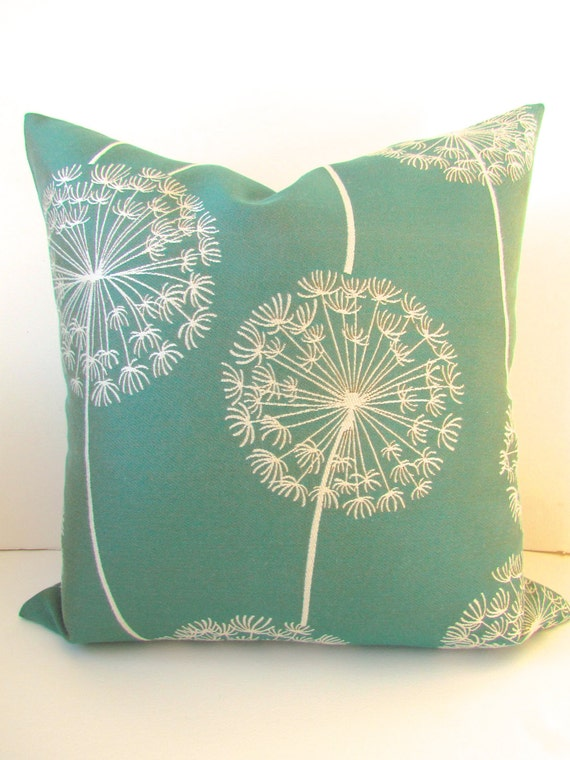 Green PILLOW Covers Teal Throw Pillows Teal by SayItWithPillows