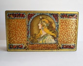 Vintage Whitman's Salmagundi Candy Tin ~ Vintage Candy Tin ~ Alphonse Mucha Design ~ Unique Storage ~ Art Nouveau Design