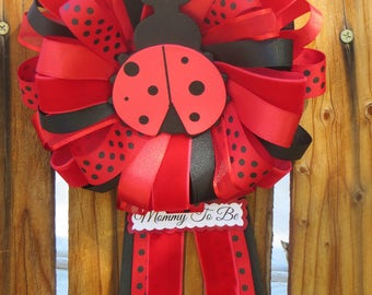Lady Bug Baby Shower Mommy-to-Be Pin