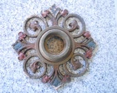 Art Deco Cast Iron Light Fixture Part Repurpose to a Wall Hanging Candle Holder Doorbell Vintage Supply Chandelier Architectural Salvage