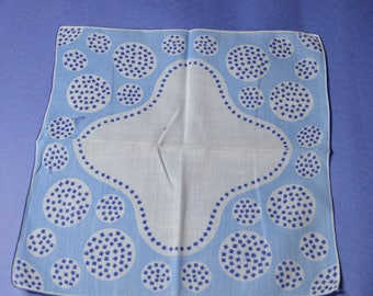 A Vintage Hankie in Blue and White
