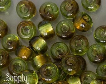 5/0 Miyuki Rococo Silver Lined Chartreuse Topaz Seed Beads - 1302- Large Hole E Bead 5-0 Seed Beads - Miyuki Color E-3273- 18 grams
