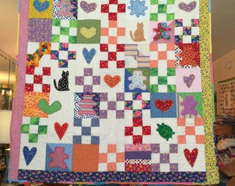 Homemade Baby/Toddler Quilt with Appliques