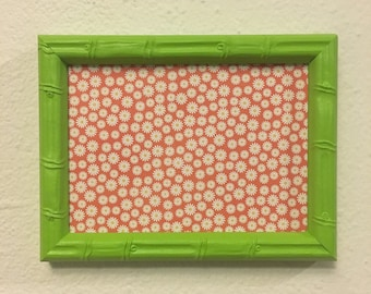 Clearance ** 5x7 Green Upcycled Handpainted Picture Frame