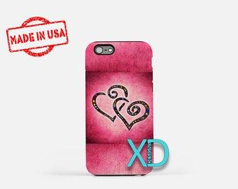 Two Hearts iPhone Case, Hearts iPhone Case, Two Hearts iPhone 8 Case, iPhone 6s Case, iPhone 7 Case, Phone Case, iPhone X Case, SE Case