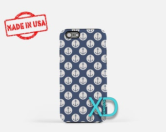 Navy Anchor Phone Case, Navy Anchor iPhone Case, Nautical iPhone 7 Case, Blue, Nautical iPhone 6 Case, Navy Anchor Tough Case, Clear Case