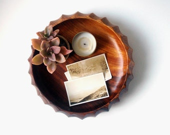 vintage wood bowl, wood bowl, bohemian, wood bowl, wooden bowl, catchall, wood catchall, display