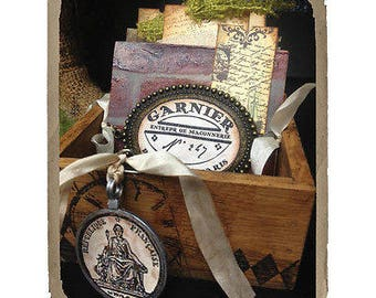Sizzix Framelits Dies 6/Pkg W/Cling Stamps By 7 Gypsies-Gypsy Findings