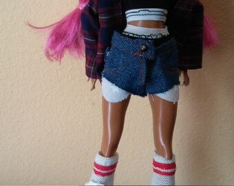 Ever After Doll Cutoff Denim Shorts Set Urban Monster Doll