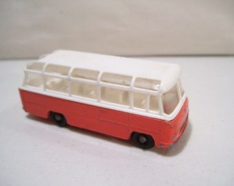 Vintage Matchbox Series Mercedes Die-cast Coach Bus, Lesney No. 68, England, Orange
