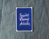 Support Living Artists Vinyl Sticker - Blue Plants
