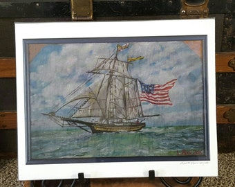 High Quality Archival Print of The Pride of Baltimore II Clipper Ship