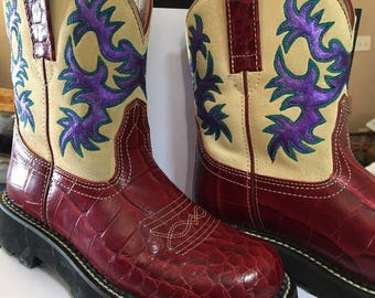 Hand Painted Boots Etsy