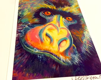 Gorilla print 5x7