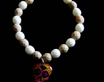 Preciosa Czech Skull Charm Bracelet