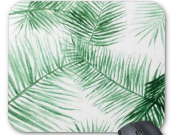 Palm Leaf Mousepad, tropical mousepad, leaf mousepad, palm mousepad, leaves mousepad, green mousepad, leaf mouse pad, palm mouse pad