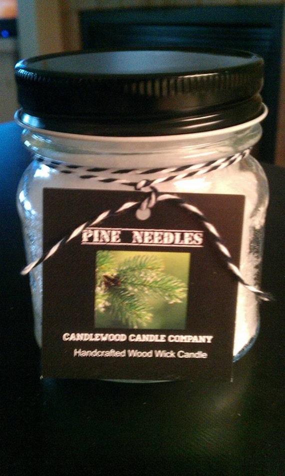 PINE NEEDLES - New Fire & Ice Pine Needles Wood Wick Candle 9.6 oz