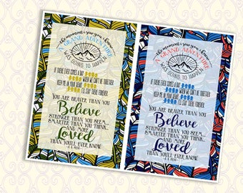 Braver Than You Believe Printable Notecard Instant Download