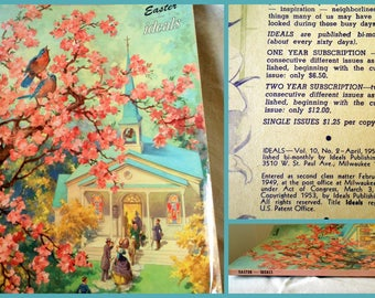 Easter Ideals Magazine Cherry Blossoms Coffee Table Book