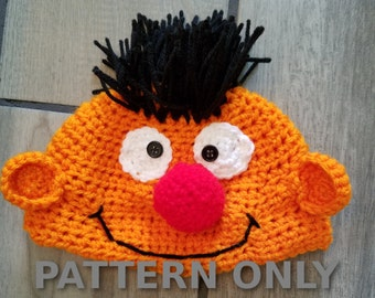 PDF Crochet Ernie Hat Pattern