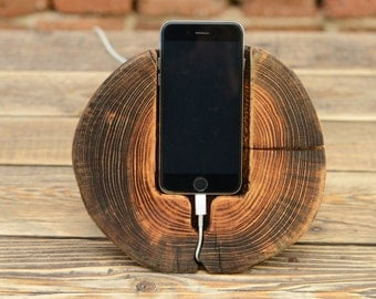 Samsung Galaxy S6 Station,Tech Accessory, iPhone Wood Stand, iPhone Dock, iPhone Charging Station, Mens Gift, Dock Station, Wood Phone stand