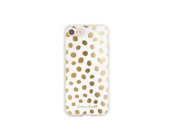 iPhone 7 case gold points