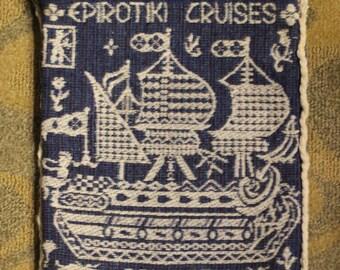 Vintage Epirotiki Cruises Greece Tote/ Hand Bag