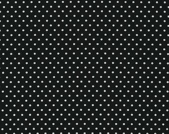 Fabric by the Yard Robert Kaufman, Black dot, BT-3482-13, 1 yd