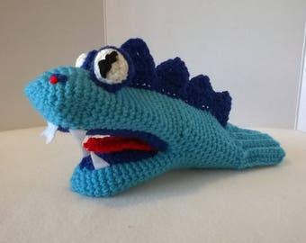 Blue Dragon Hand Puppet