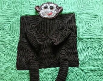 Handmade monkey or frog blanket