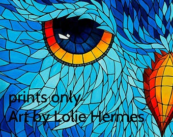 Stained Glass Owl 11x14 prints (watermarked online only)