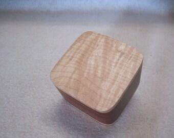 Engagement Ring Box    True Mahogany and Figured Maple