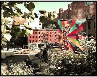 High Line, Graffiti, Kiss, Photography, New York City, Street Art, NYC, Manhattan, Rainbow, Love, FREE SHIPPING!
