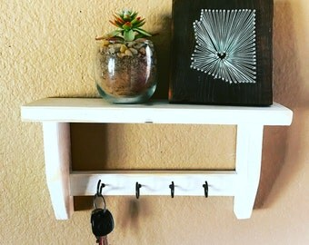 Rustic Key Holder - Hooks and Shelving - Home Decor - Organization