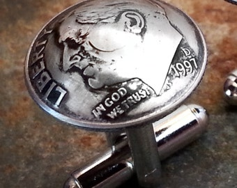 1997 20th Birthday Dime Cufflinks 20th Anniversary 20th Birthday Gift Coin Jewelry made from a 1997 Dime Gift for Him