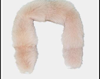 Glacier Wear Pink Dyed Blue Fox Fur Ruff 28 inches