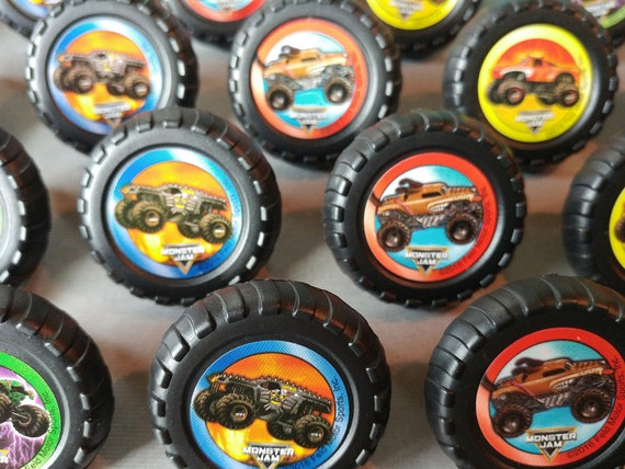 24 Monster Jam Rings Cupcake Toppers Cake Birthday Party