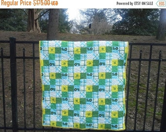 Toddler John Deere Tractor  Bed Farm Quilt Farming Themed Quilt for Toddler John Deere Birthday New Baby Gift Farm Baby Shower New Baby Gift