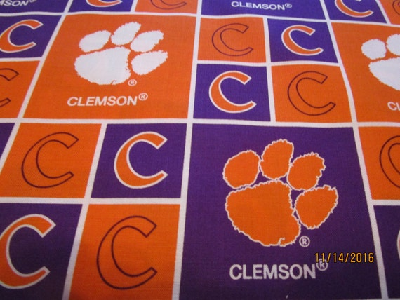 Clemson University Fabric Sold By The Yard Newest Print