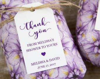 Bridal Shower Tags - Bridal Shower Favors - Baby Shower Favors - Soap Favor - Bath Bomb Favor - Bath Favor - Bridal Shower Ideas - LARGE
