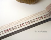 Thin love Washi Tape Set of 3(7mm x 5m)