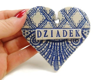 Dziadek Ornament, Polish Grandfather Ornament, Grandparent Gift, Christmas Ornament, Polish Christmas, Dziadek Birthday, New Grandfather