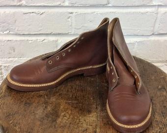 Vintage Boy's NOS 1950s 1960s Service Boots. Size 13 1/2